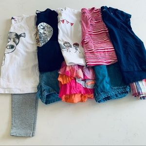 Toddler girls mix and match summer bundle lot